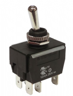 WEATHERPROOF <br>Toggle switch HEAVY DUTY <BR> ON-ON DPDT 20Amp <br>ALT/SW-R13-448 B1-1-25